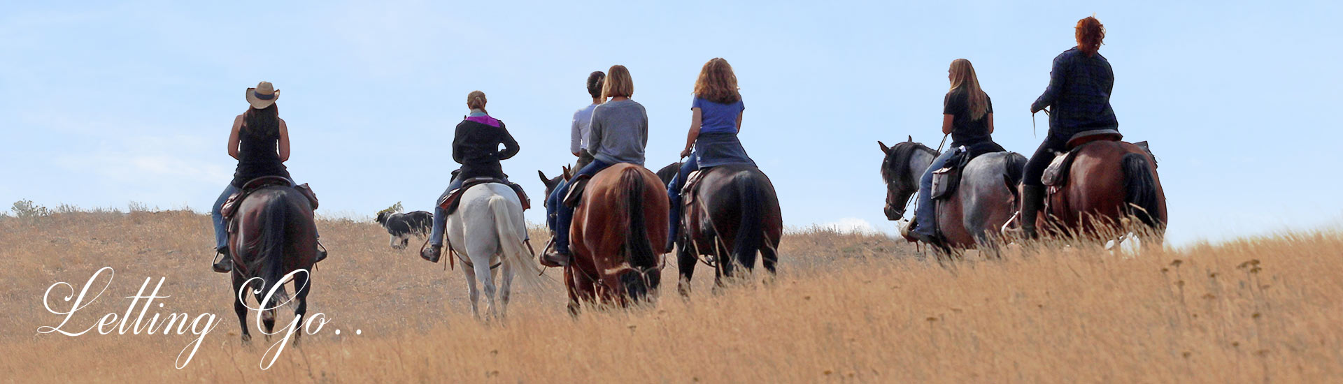 Horseback riding at the Letting Go Retreat