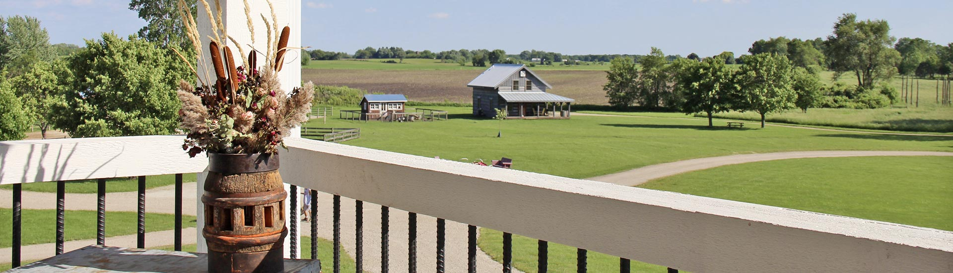 View from the deck at Soulful Prairies