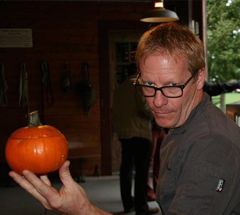 Chef Dave with pumpkin