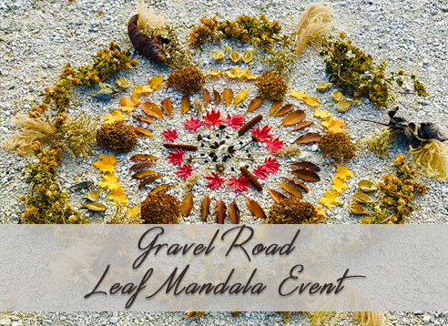 Gravel Road Leaf Mandala
